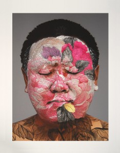 Huang Yan, Self Portrait, Archival Inkjet Print with Pochoir, Ed200, 2008, 31.75 x 23.5 inches
