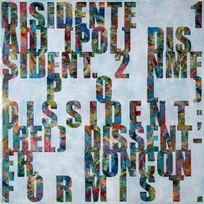 Jose Angel Vincench, Dissident (English): Compromise or Fiction of the Painting Series, Acrylic on Canvas, 2009-2010, 48 x 48 inches, JAV5
