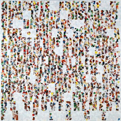 Jose Angel Vincench, Dissident (French): Compromise or Fiction of the Painting Series, Acrylic on Canvas, 2009-2010, 48 x 48 inches, JAV7