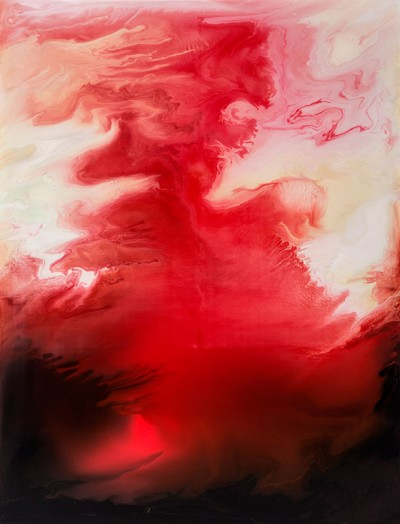 Suzan Woodruff, The Color of Heat, Acrylic on Wood Panel, 60 x 46 inches, 2012