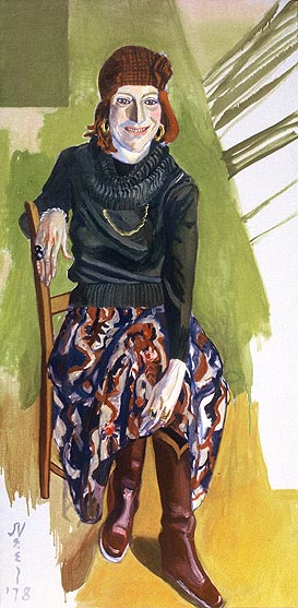 Alice Neel's 1978 portrait of Virginia Miller was in her exhibition