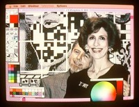 World's first on-site digital art exhibit in December 1990 by Larry Gartel