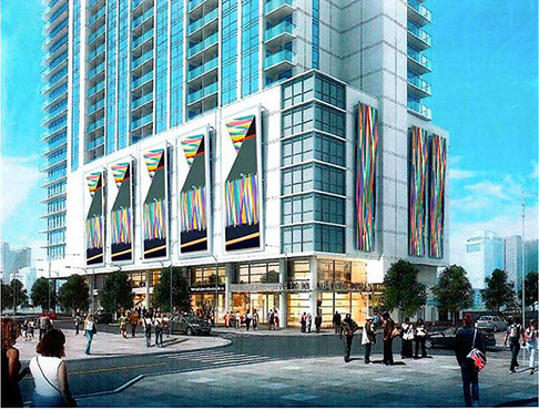 Israel Guevara works with NW Sign Industries for CitiTower in Orlando