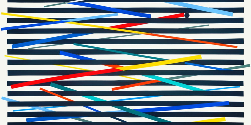 Israel Guevara, Structural Vibrations, 2016, Acrylic on Canvas, UF 48 x 48 x 1 1/2 inches, 121.9 x 121.9 x 3.8 cm