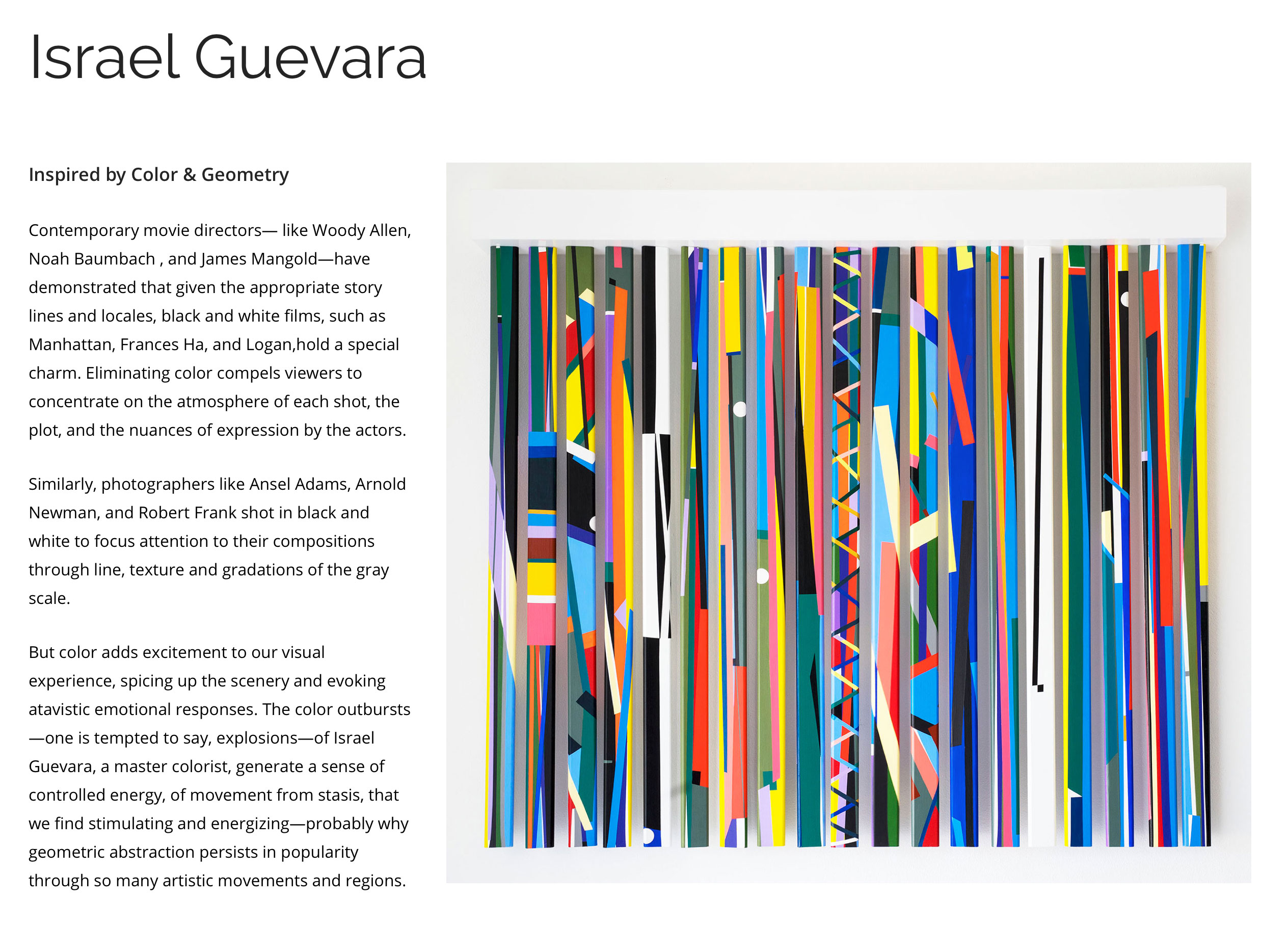 Check out our new artist page for Israel Guevara