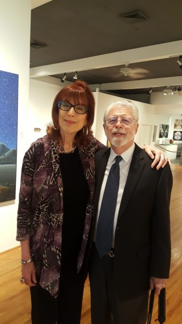 Virginia Miller and Bill Dupriest are ready to welcome guests for Gallery Night at Virginia Miller Gallery.