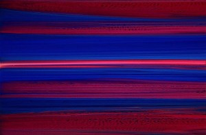 Andy Moses, 20 x 30 inches, Departure at Dawn, 2007, Acrylic on Concave Canvas