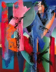 Florian Depenthal, 54 x 42 inches, Shattered Splendor, 1993, Oil on Canvas