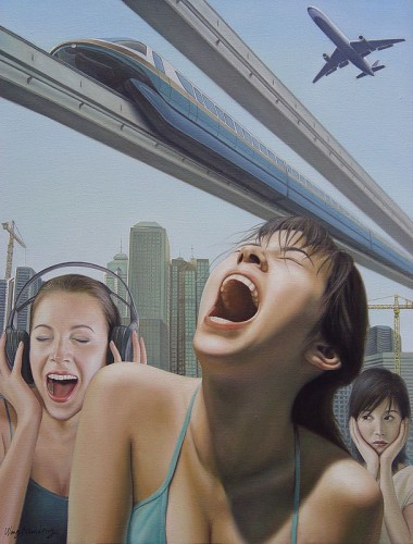 Urban Cries, 24 x 18 1/8 inches, 61 x 46 cm, 2006, Oil on Canvas, WND1